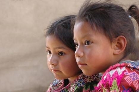Portrait of Two Girls by David Ixbalán