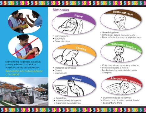 Inside view of the brochure design for Hospitalito Atitlan.